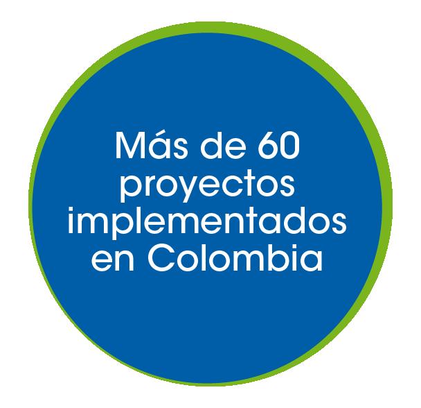 Mas de 60 proyectos implementados en Colombia