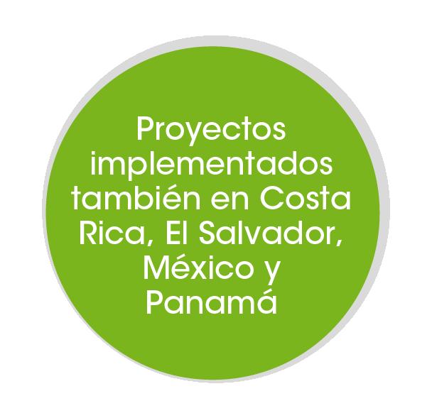 proyectos en Costa Rica, El Salvador, Mexico y Panama